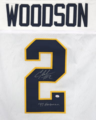 Charles Woodson Michigan Wolverines Signed Autographed White #2 Custom Jersey PAAS COA