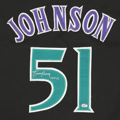 Randy Johnson Arizona Diamondbacks Signed Autographed Black #51 Custom Jersey Pinpoint COA