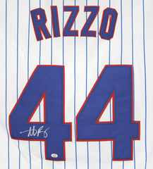 Anthony Rizzo Chicago Cubs Signed Autographed White #44 Jersey PAAS COA