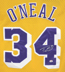 Shaquille O'Neal Los Angeles Lakers Signed Autographed Yellow #34 Jersey PAAS COA