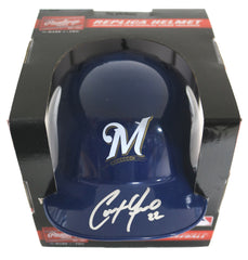 Christian Yelich Milwaukee Brewers Signed Autographed Mini Helmet PAAS COA