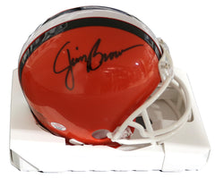Jim Brown Cleveland Browns Signed Autographed Football Mini Helmet PAAS COA