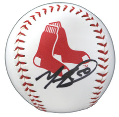 Mookie Betts Boston Red Sox Signed Autographed Rawlings Official Major League Logo Baseball Black Auto Global COA with Display Holder