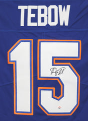Tim Tebow Florida Gators Signed Autographed Blue #15 Jersey PAAS COA