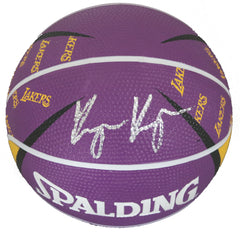 Kyle Kuzma Los Angeles Lakers Signed Autographed Spalding Lakers Logo Mini Basketball