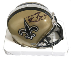 Drew Brees New Orleans Saints Signed Autographed Riddell Football Mini Helmet PAAS COA