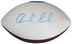 Andrew Luck Indianapolis Colts Signed Autographed White Panel Logo Football Global COA - FADED SIGNATURE