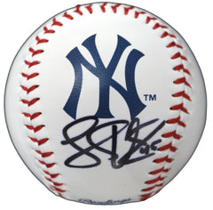 Luke Voit New York Yankees Signed Autographed Rawlings Official Major League Logo Baseball with Display Holder Global COA