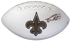 Drew Brees New Orleans Saints Signed Autographed White Panel Logo Football PAAS COA