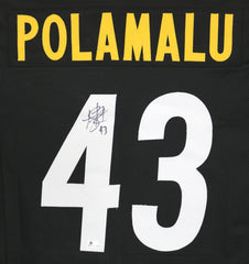 Troy Polamalu Pittsburgh Steelers Signed Autographed Black #43 Custom Jersey Global COA