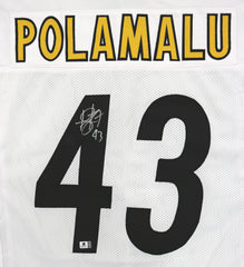 Troy Polamalu Pittsburgh Steelers Signed Autographed White #43 Custom Jersey Global COA