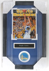 "Stephen Curry Golden State Warriors Signed Autographed 22"" x 14"" Framed Sports Illustrated Cover Photo Pinpoint COA"