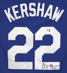 Clayton Kershaw Los Angeles Dodgers Signed Autographed Blue #22 Jersey Global COA