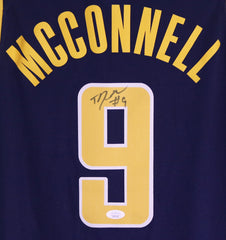 T.J. McConnell Indiana Pacers Signed Autographed Blue #9 Jersey JSA COA