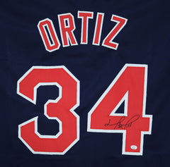 David Ortiz Boston Red Sox Signed Autographed Blue #34 Custom Jersey PAAS COA