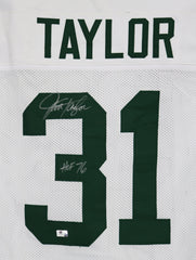 Jim Taylor Green Bay Packers Signed Autographed White #31 Jersey Global COA