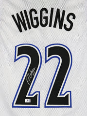 Andrew Wiggins Minnesota Timberwolves Signed Autographed White #22 Custom Jersey Global COA