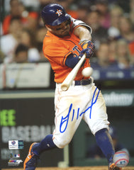 "Jose Altuve Houston Astros Signed Autographed 8"" x 10"" Hitting Photo Global COA"
