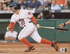 "Jose Altuve Houston Astros Signed Autographed 8"" x 10"" Batting Photo Global COA"