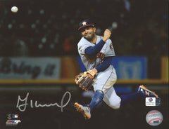 "Jose Altuve Houston Astros Signed Autographed 8"" x 10"" Throwing Photo Global COA"