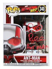 Paul Rudd Signed Autographed Ant-Man Marvel Ant-Man and the Wasp FUNKO POP #340 Vinyl Figure Global COA