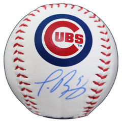 Javier Baez Chicago Cubs Signed Autographed Rawlings Official Major League Logo Baseball Global COA with Display Holder