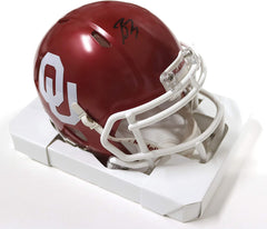 Baker Mayfield Oklahoma Sooners Signed Autographed Football Mini Helmet JSA COA