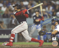 "Mookie Betts Boston Red Sox Signed Autographed 8"" x 10"" World Series Photo Global COA"