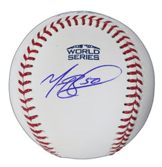 Mookie Betts Boston Red Sox Signed Autographed Rawlings 2018 World Series Official Baseball Global COA with Display Holder