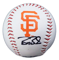 Barry Bonds San Francisco Giants Signed Autographed Rawlings Official Major League Logo Baseball with Display Holder  Global COA