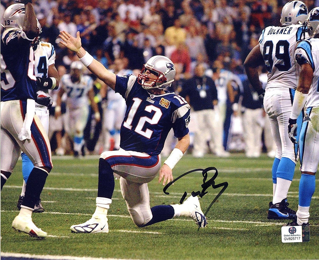 another chance fa443 fb10c Tom Brady New England Patriots Signed Autographed 8 x 10 First Down Photo  Global COA