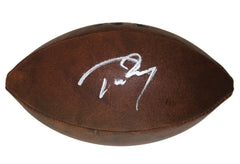 Tom Brady New England Patriots Signed Autographed Wilson NFL Logo Junior Football Global COA