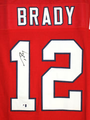 Tom Brady New England Patriots Signed Autographed Custom Red #12 Jersey Global COA