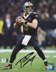 "Drew Brees New Orleans Saints Signed Autographed 8"" x 10"" Passing Photo Global COA"