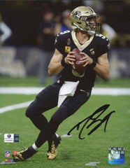 "Drew Brees New Orleans Saints Signed Autographed 8"" x 10"" Looking Downfield Photo Global COA"