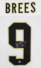 Drew Brees New Orleans Saints Signed Autographed White #9 Custom Jersey PAAS COA