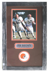 "Jim Brown Cleveland Browns Signed Autographed 22"" X 14"" Framed Photo Witnessed Global COA"