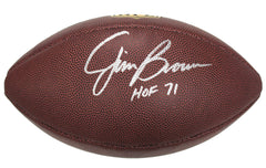 "Jim Brown Cleveland Browns Signed Autographed Wilson ""THE DUKE"" NFL Football Global COA"