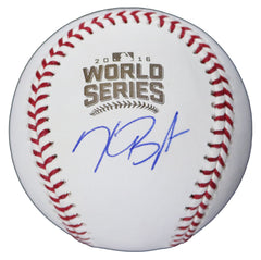 Kris Bryant Chicago Cubs Signed Autographed Rawlings Official 2016 World Series Baseball Global COA with Display Holder