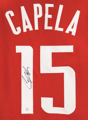 Clint Capela Houston Rockets Signed Autographed Custom Red #15 Jersey PAAS COA