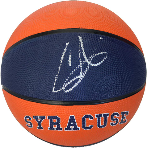 Carmelo Anthony Signed Autographed Rawlings Syracuse Orange Basketball Beckett Letter COA