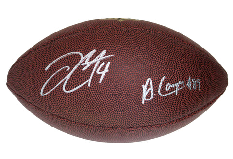 "Derek Carr and Amari Cooper Los Angeles Raiders Signed Autographed Wilson ""THE DUKE"" NFL Football Global COA"