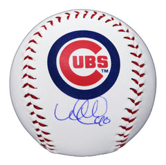 Wilson Contreras Chicago Cubs Signed Autographed Rawlings Official Major League Logo Baseball Global COA with Display Holder