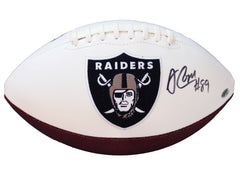 Amari Cooper Los Angeles Raiders Signed Autographed White Panel Logo Football PAAS COA