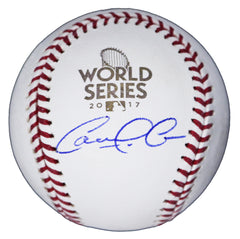Carlos Correa Houston Astros Signed Autographed 2017 World Series Official Baseball Global COA with Display Holder