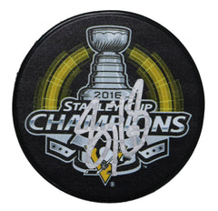 Sidney Crosby Pittsburgh Penguins Signed Autographed 2016 Stanley Cup Champions Hockey Puck Global COA with Display Holder