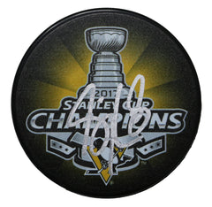 Sidney Crosby Pittsburgh Penguins Signed Autographed 2017 Stanley Cup Champions Hockey Puck Global COA with Display Holder