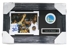 "Stephen Curry and Kevin Durant Golden State Warriors Signed Autographed 22"" x 14"" Framed Photo PAAS COA"