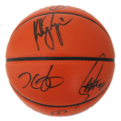 Stephen Curry, Klay Thompson and Kevin Durant Golden State Warriors Signed Autographed Spalding NBA Game Ball Series Basketball PAAS COA
