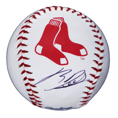 Rafael Devers Boston Red Sox Signed Autographed Rawlings Official Major League Logo Baseball Global COA with Display Holder